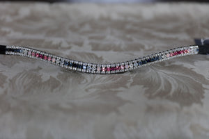 Swarovski pink to navy stars wave fade curve browband