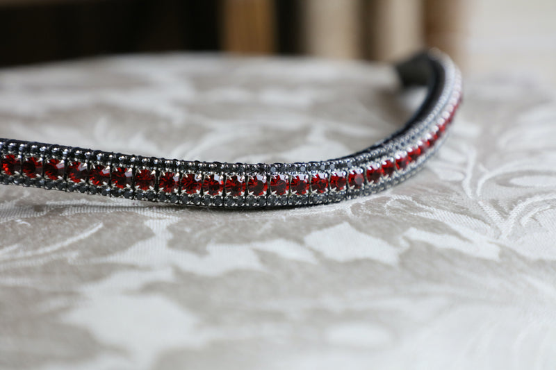 Red velvet and nightfall browband