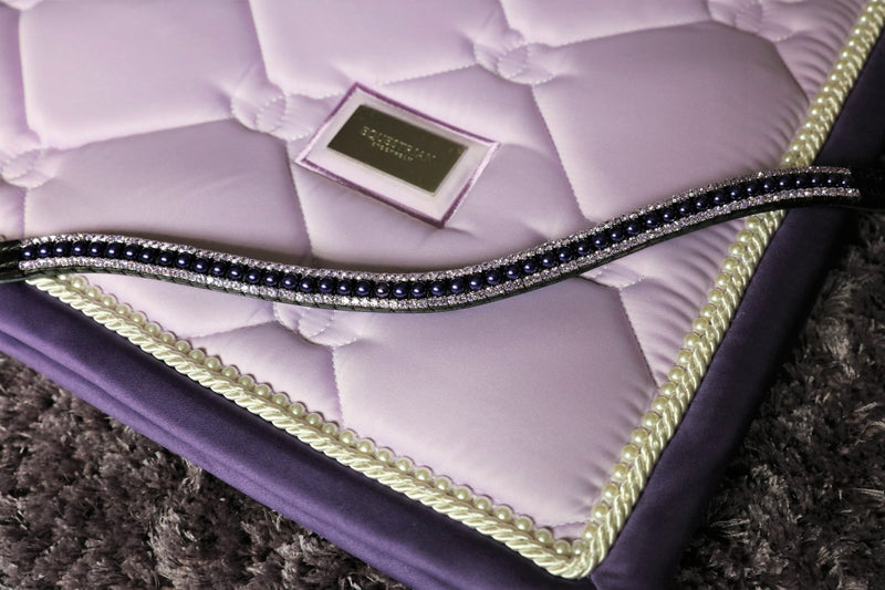 Purple pearl and violet browband