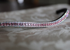 Light rose and iridescent browband