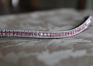 Light rose and clear browband