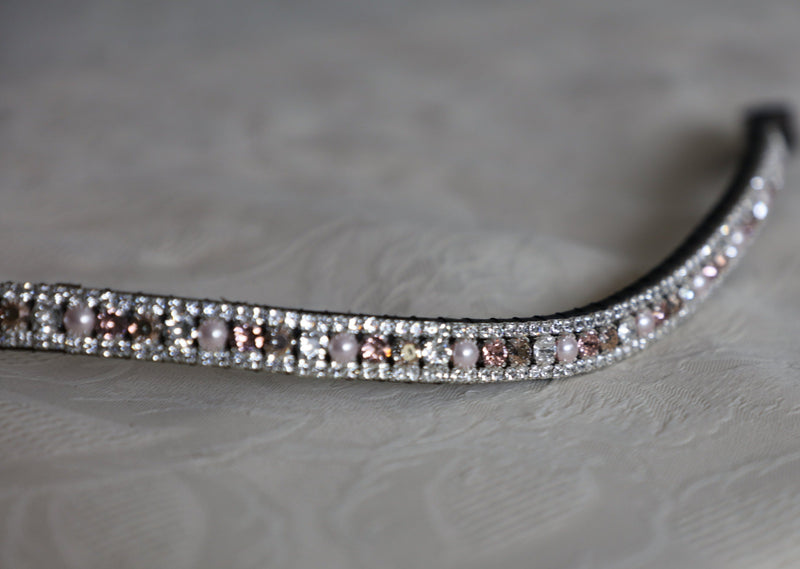 Swarovski crystal rose gold and clear browband