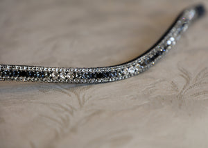 Swarovski Black Grey wave fade browband