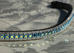 Capri blue ab and clear browband