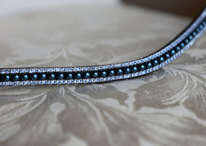 Navy pearl and light sapphire browband