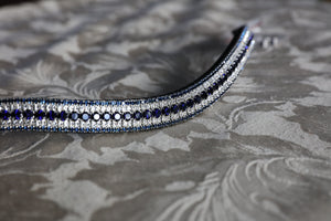 Indigo, clear and montana megabling curve browband