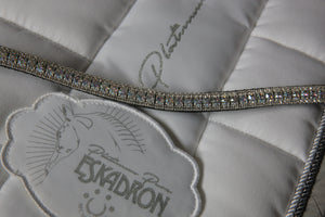 Swarovski white patina and clear browband