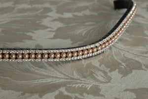 Rose gold pearl browband