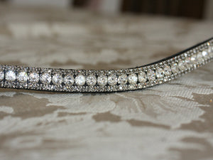 Swarovski Tiffany crystal and black diamond browband