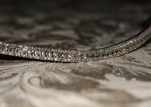 Black diamond antique elegante browband
