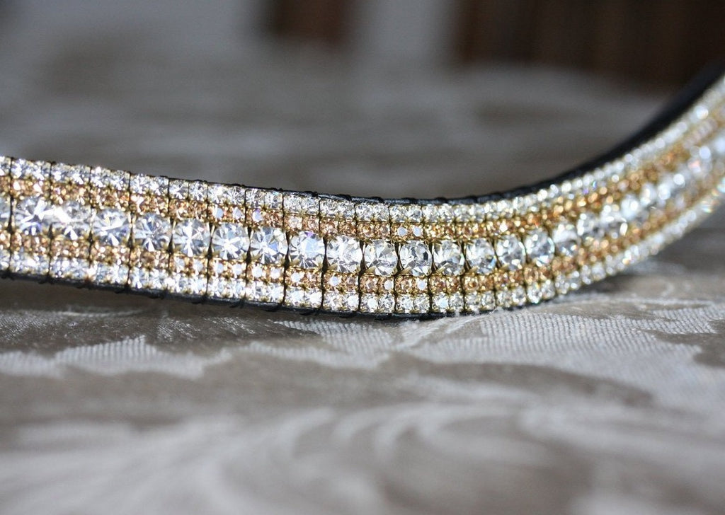 Clear, light colorado and clear megabling curve browband