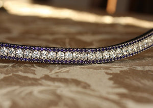 Clear and purple velvet browband