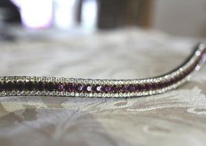Amethyst and honey browband