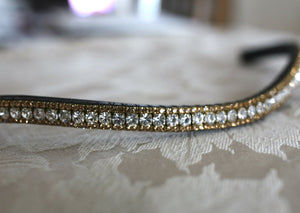 clear and light colorado crystal browband
