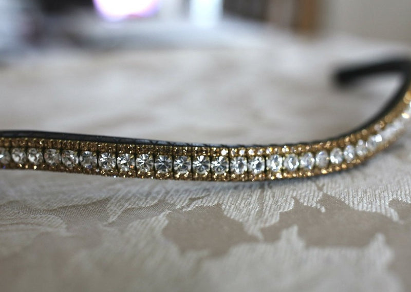 Clear and gold browband