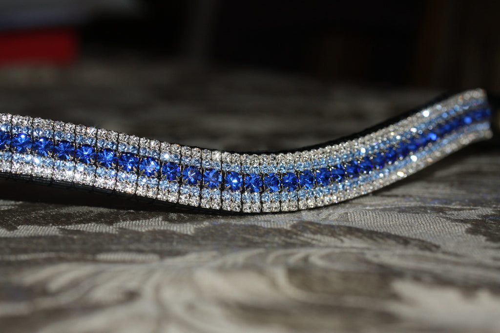 Sapphire, light sapphire and clear curve megabling browband