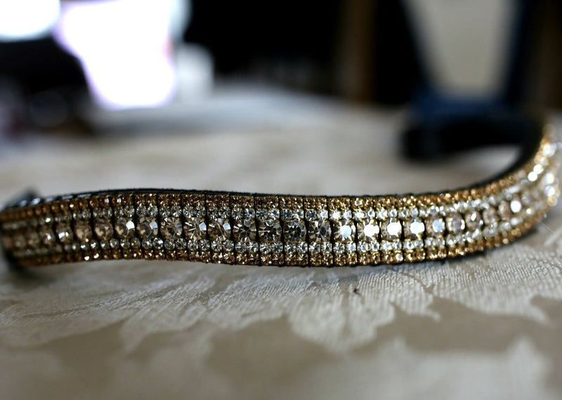 Honey, clear and light colorado megabling curve crystal browband