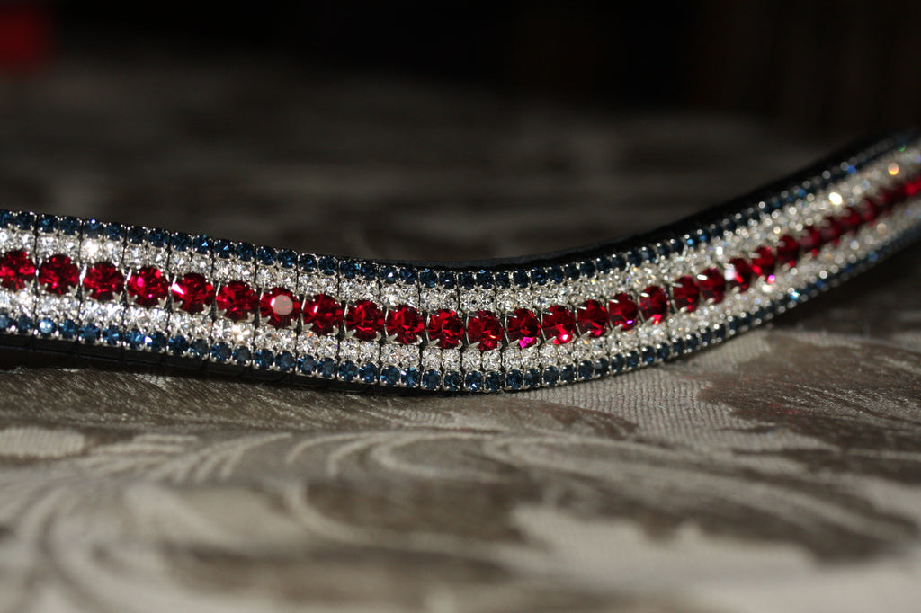 Ruby, clear and montana curve megabling browband