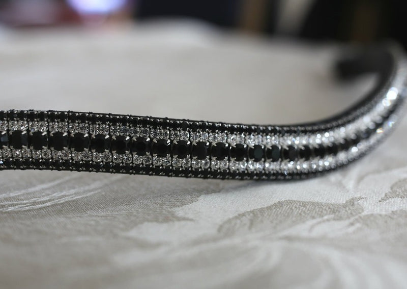 Jet, clear and jet megabling curve browband