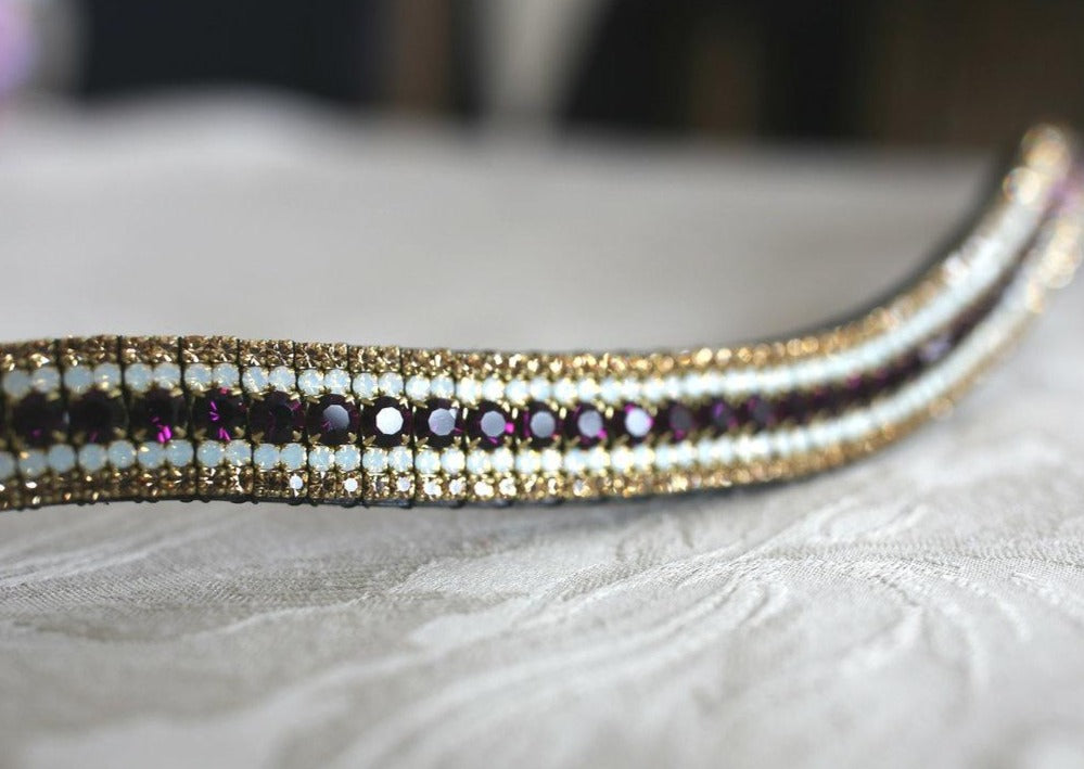 Amethyst, opal and light colorado megabling curve browband