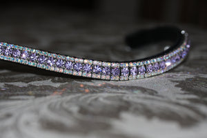 Violet and iridescent browband