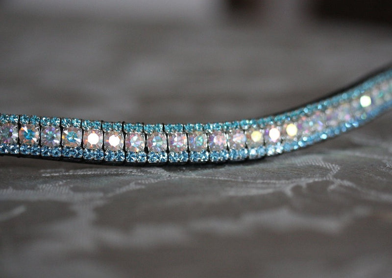 Iridescent and aquamarine browband