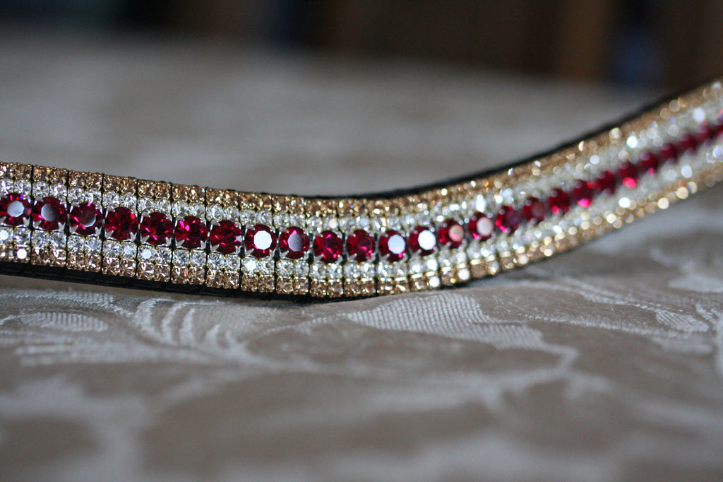 Ruby, clear and light colorado megabling curve browband