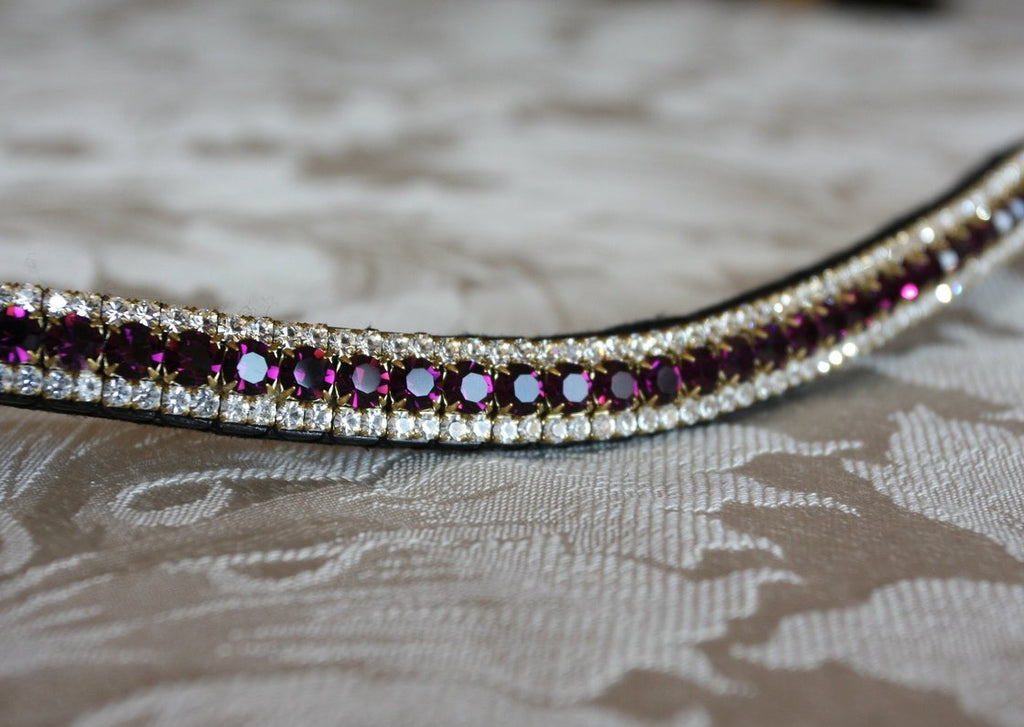 Amethyst and clear browband