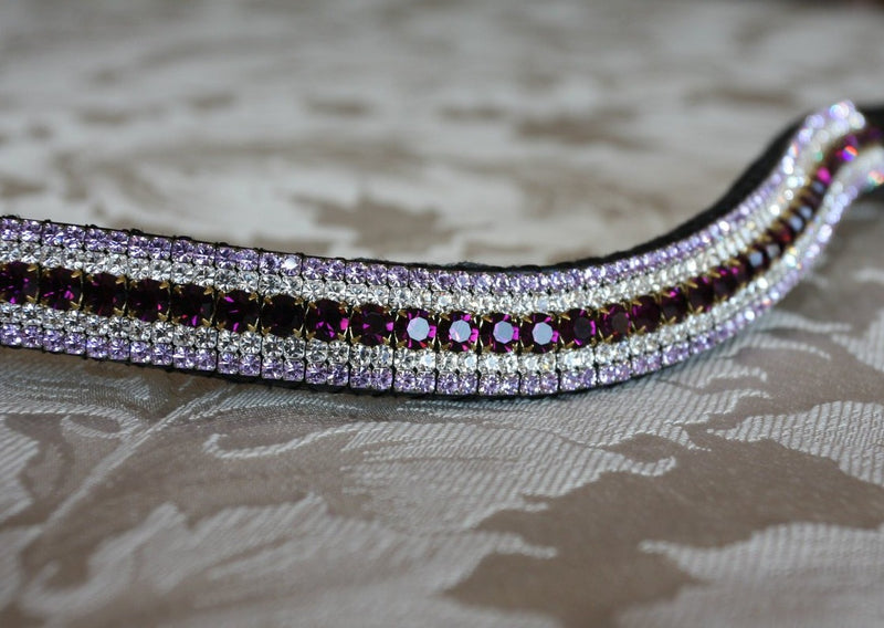Amethyst, clear and violet curve megabling