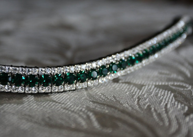 Emerald and clear browband