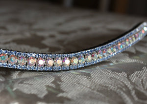 Iridescent and light sapphire browband