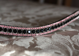 Jet and light rose browband