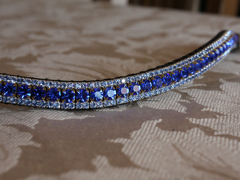 Sapphire and light sapphire browband