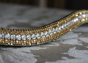 Clear and bronze megabling curve browband