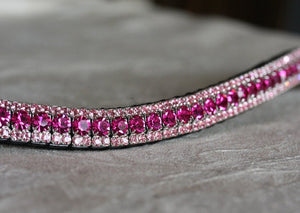 Fuchsia and light rose browband
