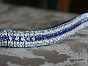Sapphire, clear and light sapphire megabling curve browband