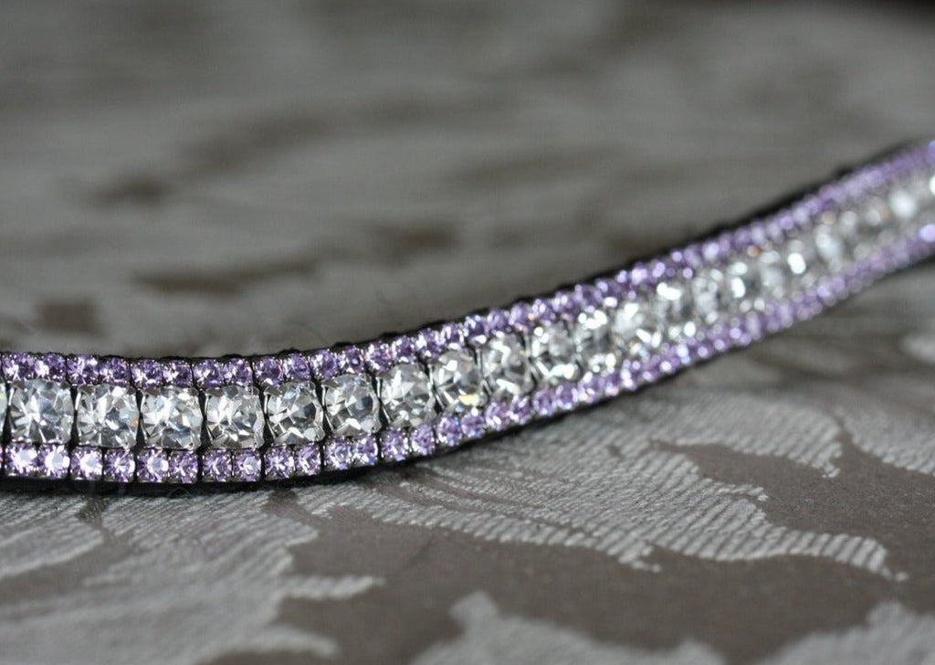Clear and violet browband