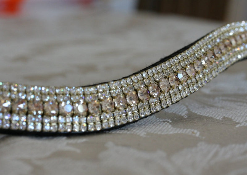 Honey and clear megabling curve browband