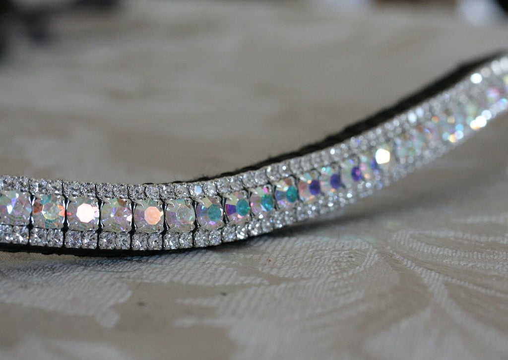 Iridescent and clear browband