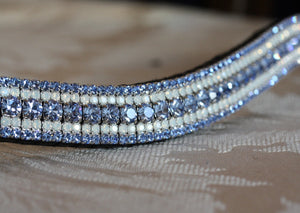 Light sapphire and opal megabling curve browband