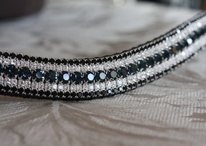 Montana, clear and jet megabling curve browband