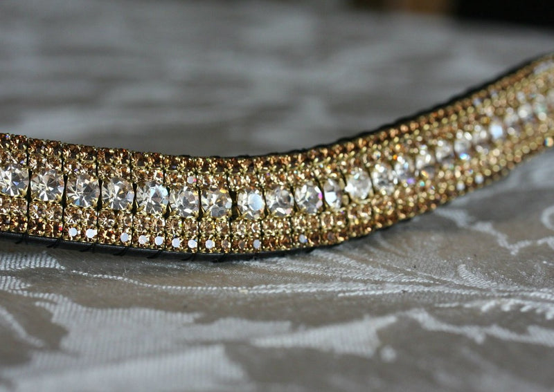 Honey and bronze megabling curve browband