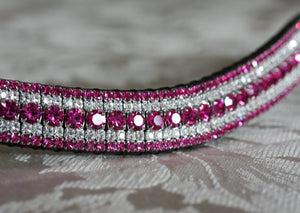 Fuchsia and clear megabling curve browband