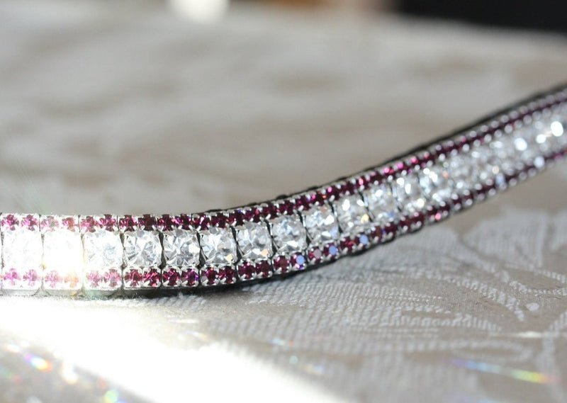 Clear and amethyst browband