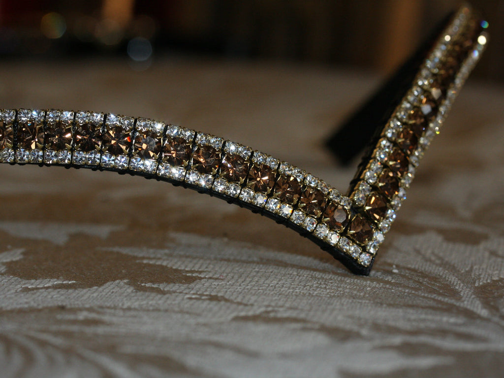 Smoke topaz and clear browband