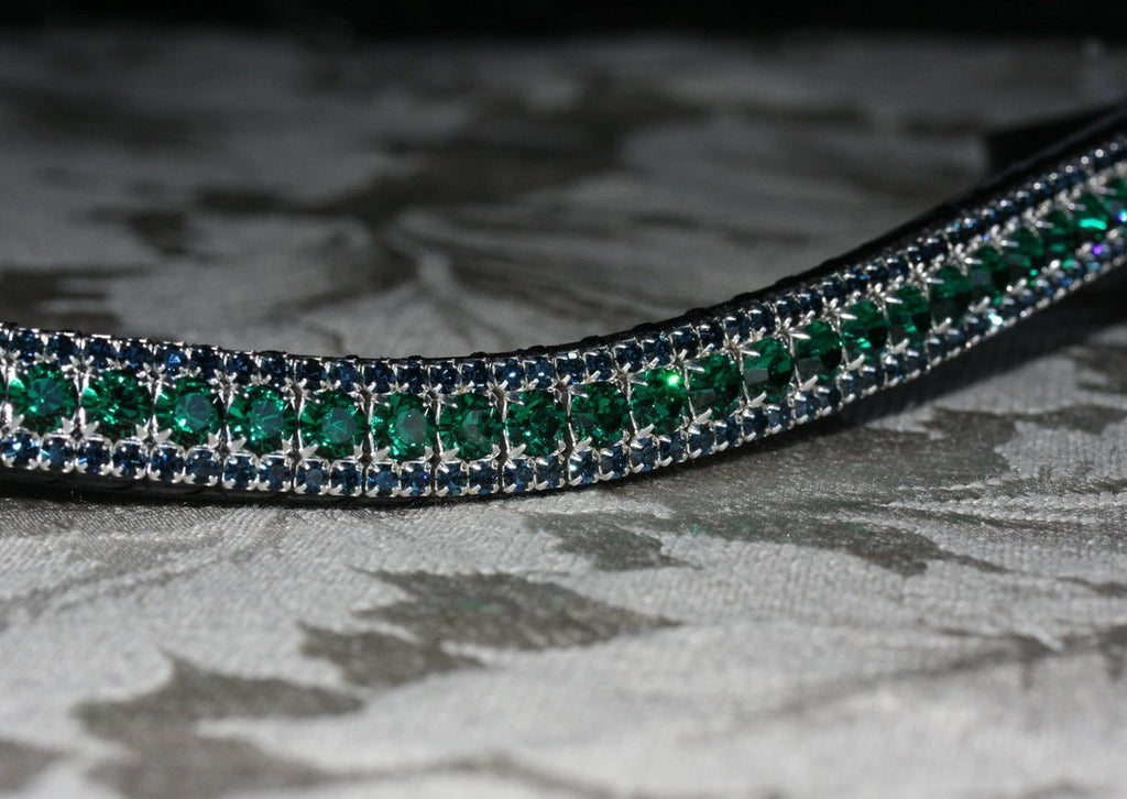 Emerald and montana browband
