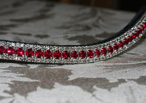 Ruby and black diamond browband