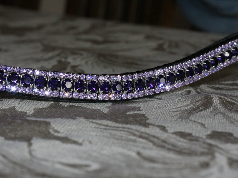Purple velvet and violet browband