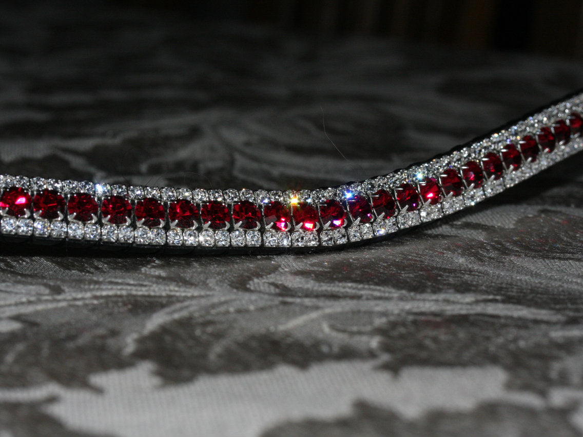 Browband big crystals browband in ruby red cob size