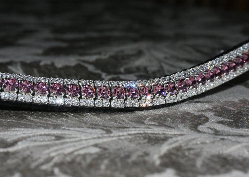 Light amethyst and clear browband
